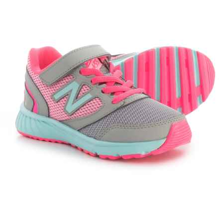 New Balance 455v1 Running Shoes (For Girls) in Grey/Pink - Closeouts