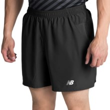 "New Balance 5"" Woven Run Shorts (For Men) in Black - Closeouts"