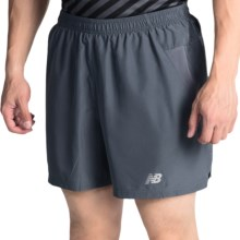 "New Balance 5"" Woven Run Shorts (For Men) in Thunder - Closeouts"