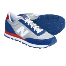 New Balance 501 Retro Running Shoes (For Men) in Blue/White/Red - Closeouts