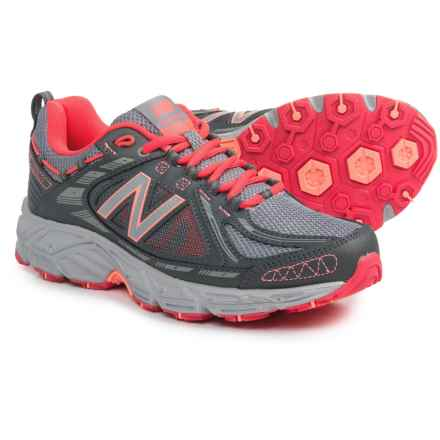 New Balance 510v2 Trail Running Shoes (For Women) in Silver/Grey/Red - Closeouts
