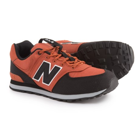 New Balance 574 Classic Sneakers (For Boys) in Orange