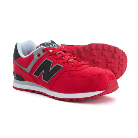 New Balance 574 Core Sneakers (For Boys) in Red