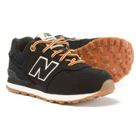 New Balance 574 Heritage Sneakers - Nubuck (For Boys) in Black - Closeouts