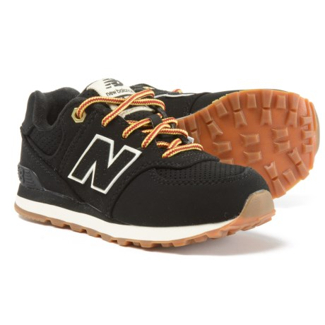 New Balance 574 Heritage Sneakers - Nubuck (For Boys) in Black