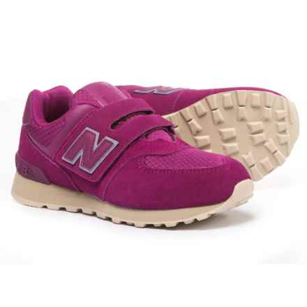 New Balance 574 Hook and Loop Sneakers (For Girls) in Purple - Closeouts