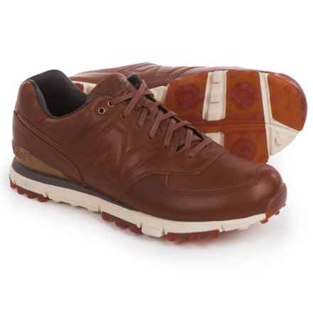 New Balance 574 LX Golf Shoes - Waterproof, Leather (For Men) in Leather Brown - Closeouts