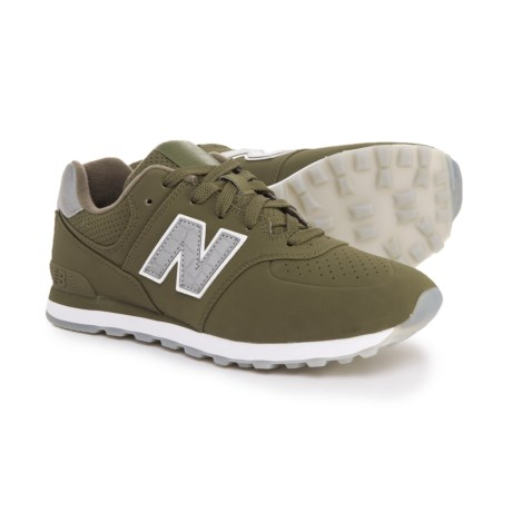 New Balance 574 Paint Chip Sneakers (For Boys) in Green