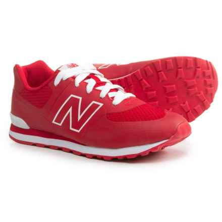 New Balance 574 Puddle Jumper Sneakers (For Boys) in Red - Closeouts
