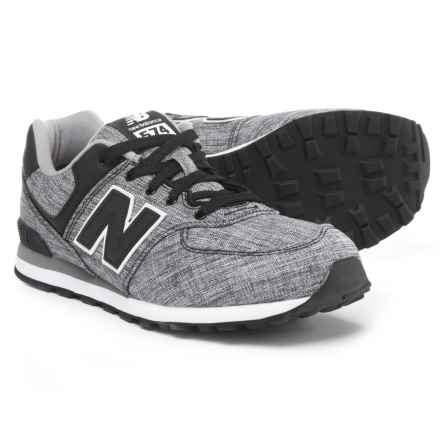 New Balance 574 Sneakers (For Boys) in Black - Closeouts