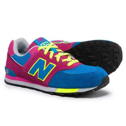 New Balance 574 Sneakers (For Girls) in Pink/Blue - Closeouts
