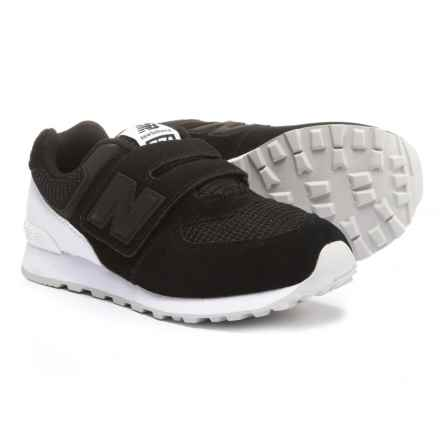 New Balance 574 Sneakers - Touch Fasten (For Boys) in Black/White - Closeouts