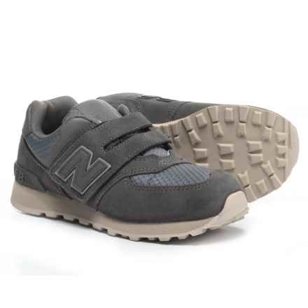 New Balance 574 Sneakers - Touch Fasten (For Boys) in Grey - Closeouts