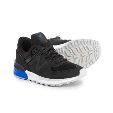 New Balance 574 Sport Sneakers (For Boys) in Black/Blue - Closeouts