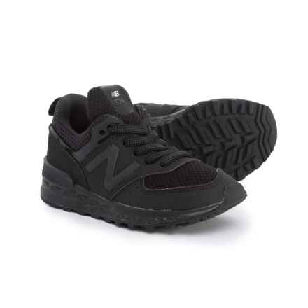 New Balance 574 Sport Sneakers (For Boys) in Black - Closeouts