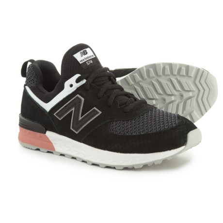 63cfb8d5fac ... wholesale new balance 574 sport sneakers for girls in black dusted  peach 508f2 88292