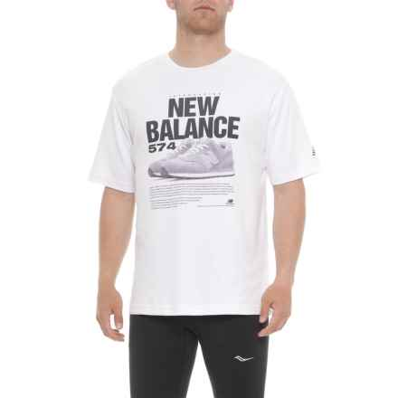 New Balance 574 T-Shirt - Short Sleeve (For Men) in White - Closeouts