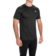 New Balance 5K Run Tech T-Shirt - Short Sleeve (For Men) in Black - Closeouts