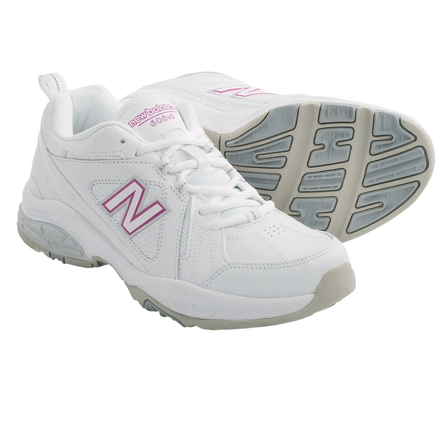 New Balance 608V3 Cross Training Shoes (For Women) in White/Pink
