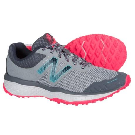 New Balance 620V2 Trail Running Shoes (For Women) in Silver Mink/Gun Metal/Alpha Pink