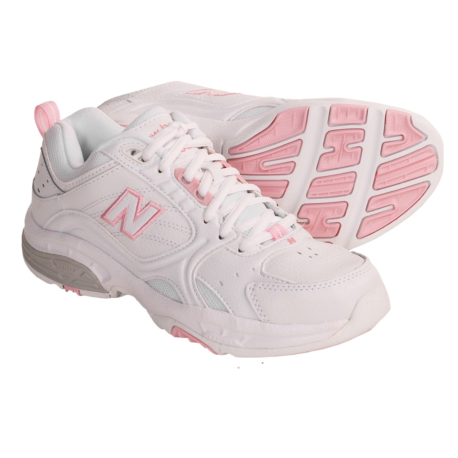 New Balance 622 Cross Training Shoes (For Women) in White/Inthepink