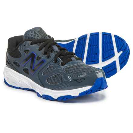 New Balance 680 V3 Running Shoes (For Boys) in Grey/Blue/Black - Closeouts