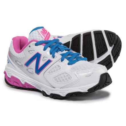New Balance 680 V3 Running Shoes (For Girls) in White - Closeouts