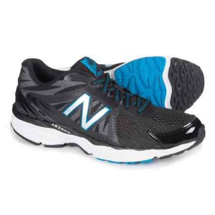 New Balance 680v4 Running Shoes (For Men) in Black/White/Electric Blue - Closeouts