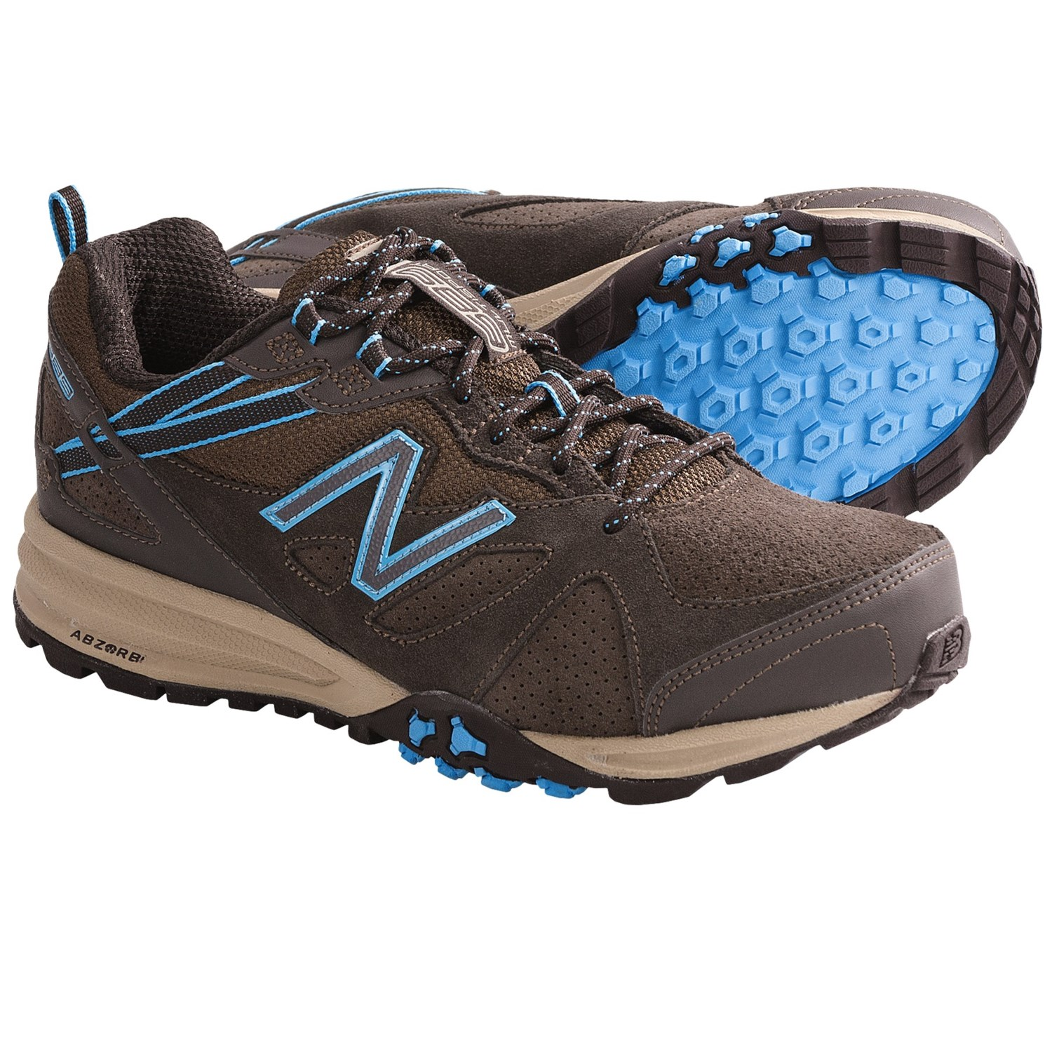 New Balance 689 Trail Shoes - Suede (For Women) in Brown/Light Blue