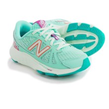 New Balance 690v4 Running Shoes (For Little and Big Girls) in Blue Light W/Purple & Bubble Gum Pink - Closeouts