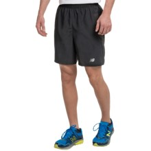 "New Balance 7"" Woven Running Shorts (For Men) in Black - Closeouts"