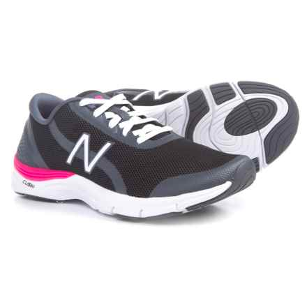 New Balance 711V3 Cross-Training Shoes (For Women) in Black/Alpha Pink - Closeouts