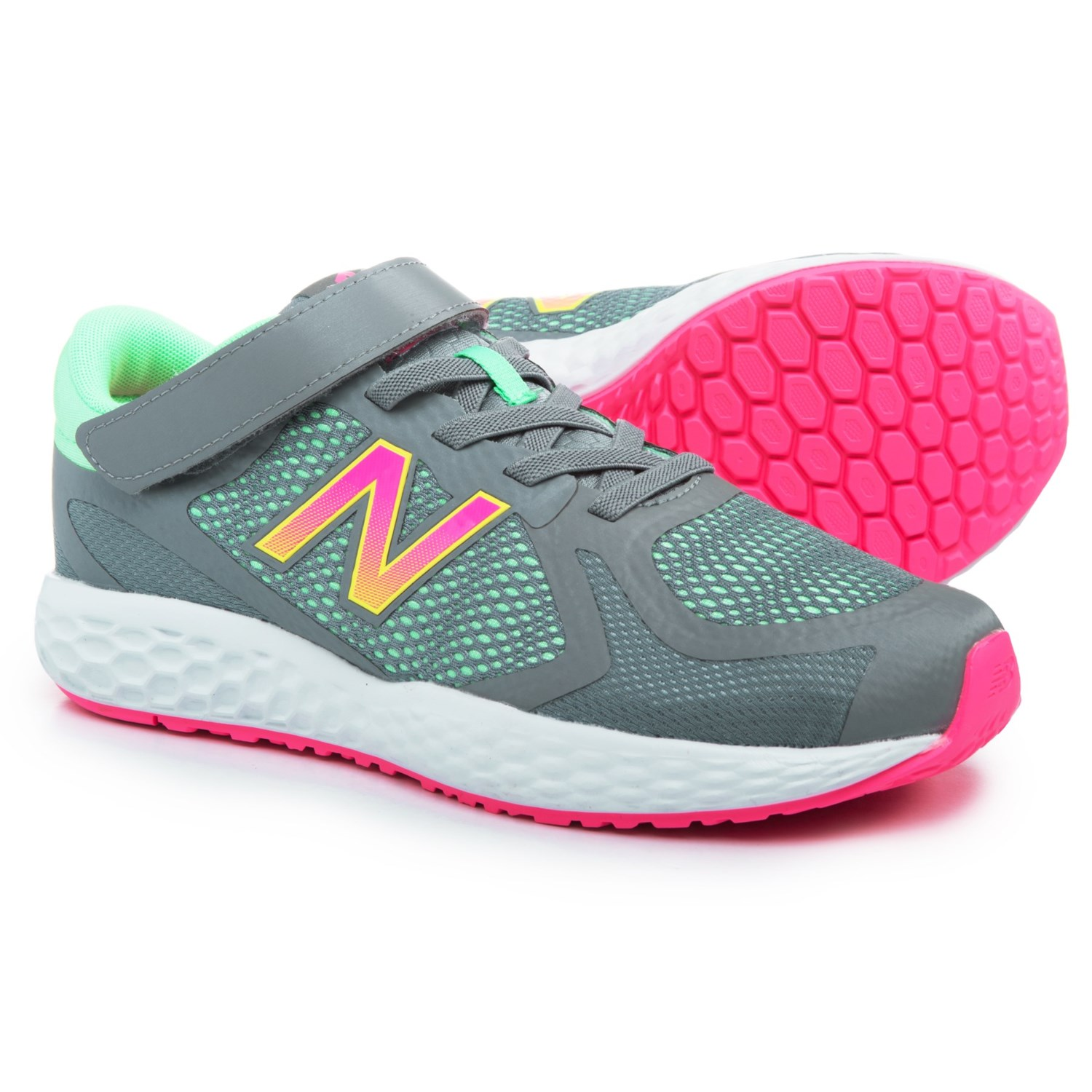 pretty nice e57f4 64949 New Balance 720 Hook-and-Loop Running Shoes (For Girls ...