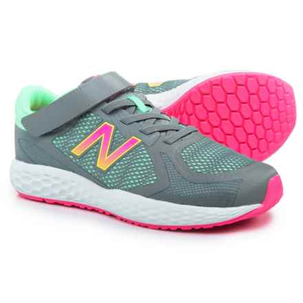 New Balance 720 Hook-and-Loop Running Shoes (For Girls) in Grey - Closeouts