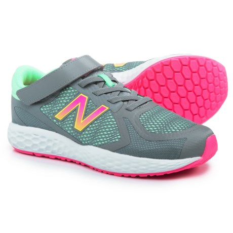New Balance 720 Hook-and-Loop Running Shoes (For Girls) in Grey