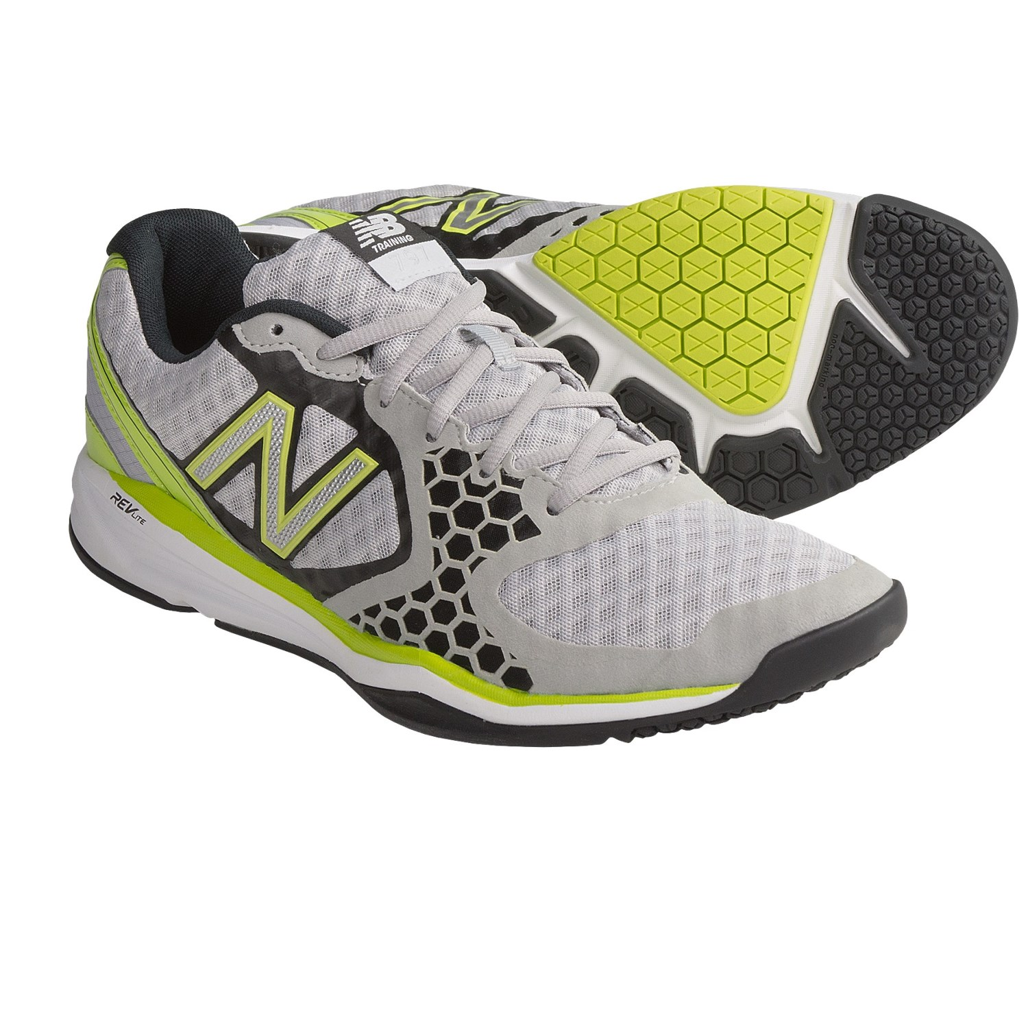 New Balance 797 Cross Training Shoes (For Men) in Grey/Lime Green