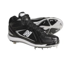 New Balance 801 Mid Baseball Cleats (For Men) in Black/Silver - Closeouts