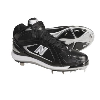 New Balance 801 Mid Baseball Cleats (For Men) in Black/Silver