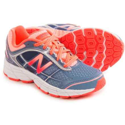 New Balance 860 V5 Running Shoes (For Little and Big Girls) in Grey/Orange - Closeouts