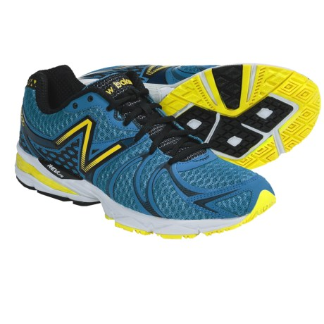New Balance 870V2 Running Shoes (For Men) in Blue/Yellow/Black