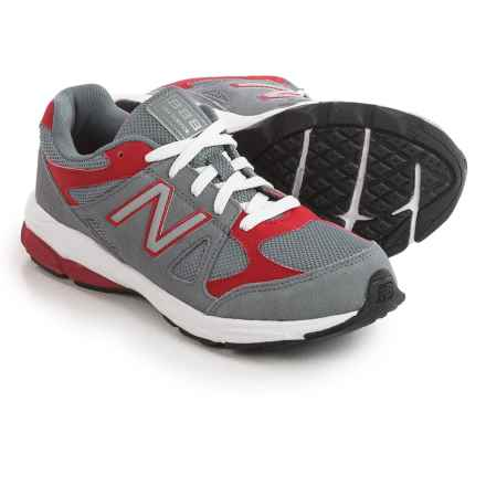 New Balance 888 Running Shoes (For Big Boys) in Grey/Red - Closeouts