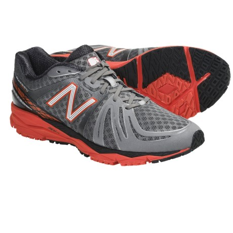 New Balance 890v2 Running Shoes (For Men) in Grey/Cherry Tomato