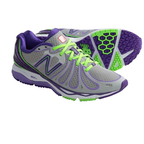 New Balance 890V3 Running Shoes (For Women) in Silver/Purple/Flourescent Green