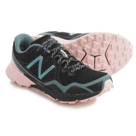 New Balance 910V3 Trail Running Shoes (For Women) in Black/Bleached Sunrise/Alpha Pink - Closeouts