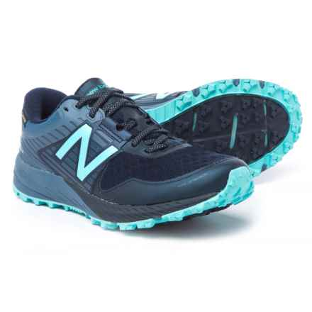 New Balance 910v4 Gore-Tex® Trail Running Shoes - Waterproof (For Women) in Pigment/Porcelain Blue - Closeouts