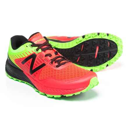 New Balance 910V4 Trail Running Shoes (For Men) in Energy Red/Energy Lime/Black - Closeouts