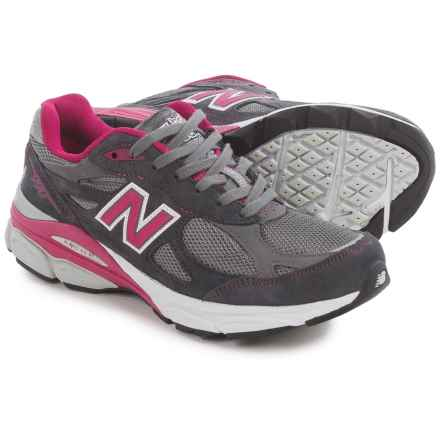 New Balance 990v3 Running Shoes (For Women) in Grey/Pink Ribbon - Closeouts