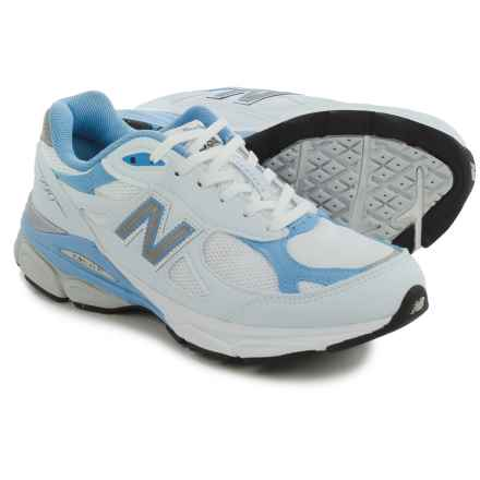 New Balance 990v3 Running Shoes (For Women) in White/Blue/Grey - Closeouts