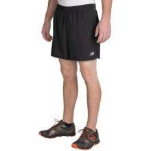 "New Balance Accelerate 5"" Running Shorts (For Men) in Black - Closeouts"