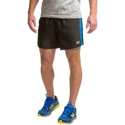 "New Balance Accelerate 5"" Shorts (For Men) in Black/Barracuda - Closeouts"